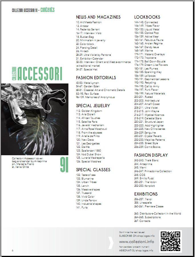 Collezioni Accessori Spring/Summer 2018 Brand Collection No. 91