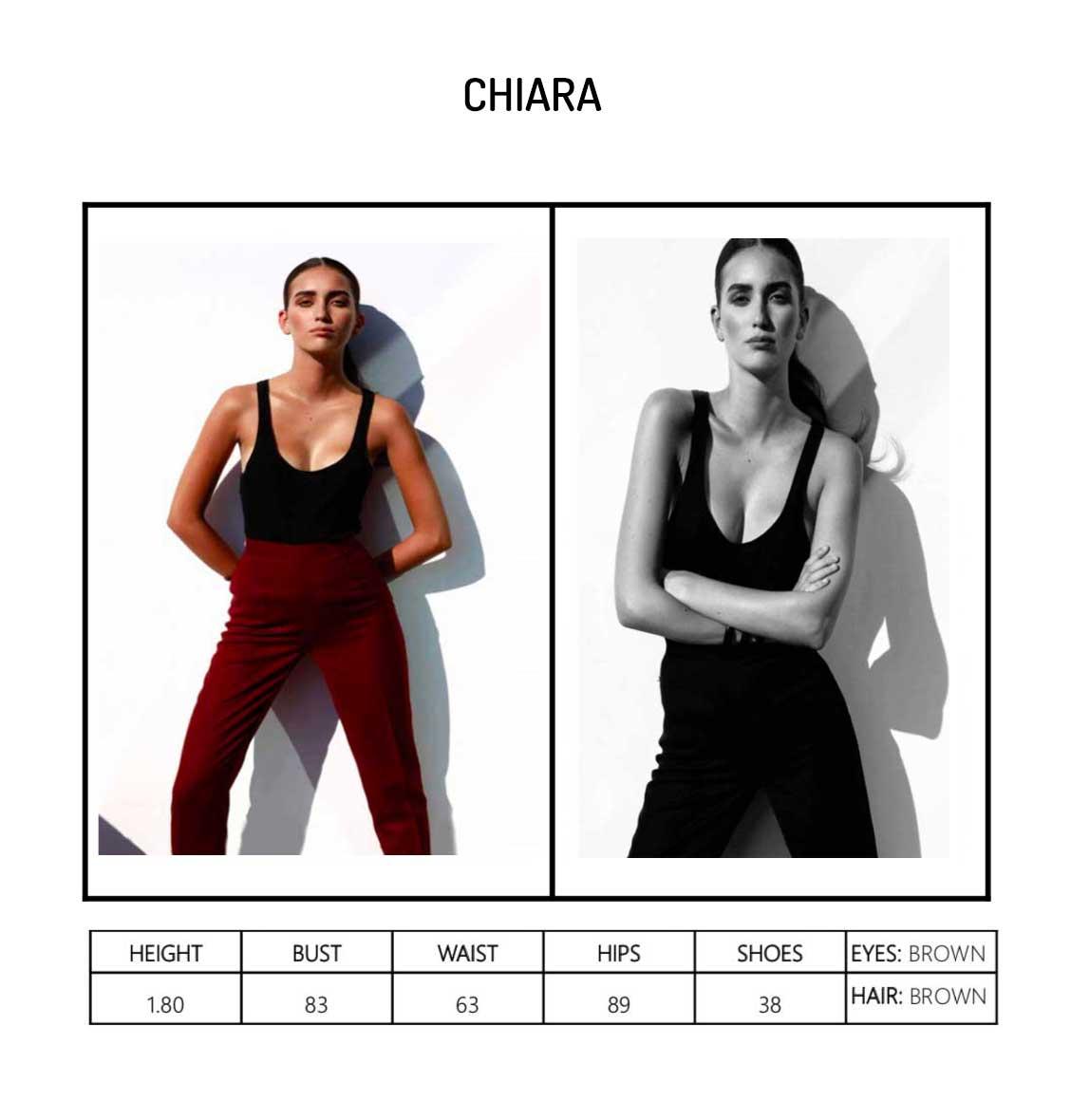 Model Chiara Portfolio