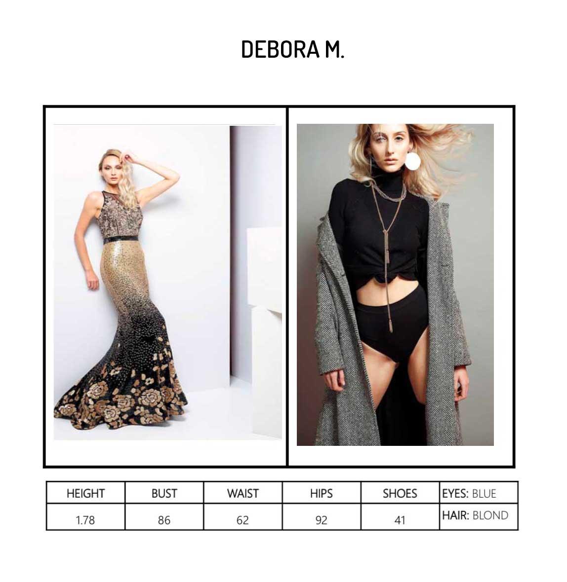 Model Debora M Portfolio