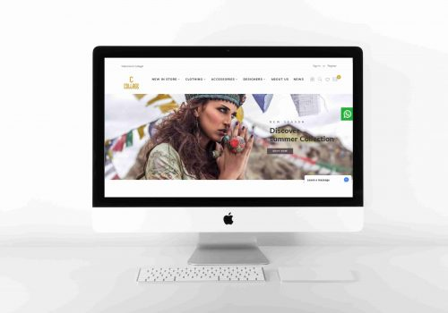 Collage Fashion Website